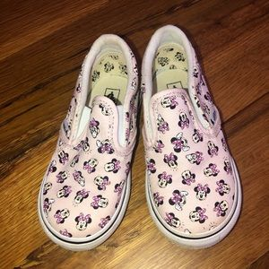 Toddler size 8 Minnie Mouse vans